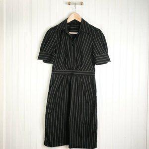 BCBGMAXAZRIA Womens Popover Shirt Dress Black Whit